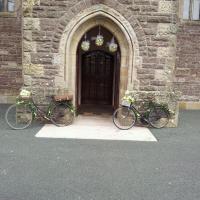 vintage bikes at door